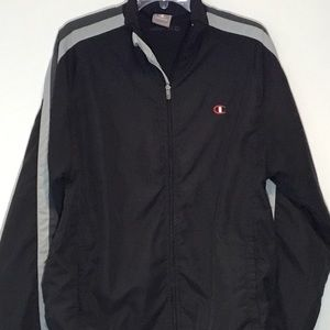 Champion Men's Black Windbreaker Jacket Size M
